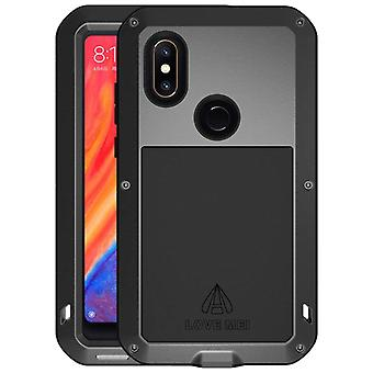 Love Mei powerful hybrid shockproof case Xiaomi Mi Mix 2s screen protector-Black