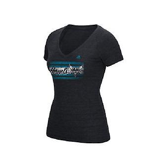 Charlotte Hornets NBA adidas Women's Woodgrain Stripe t-skjorte
