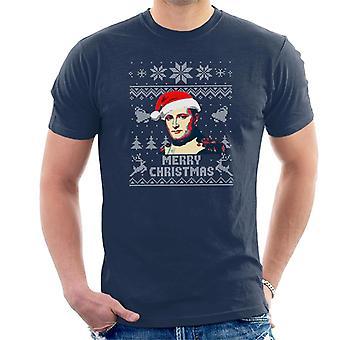 Merry Christmas Napoleon Knit Pattern Men's T-Shirt