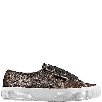 Womens Superga 2750 Micro Glitter Fashion Closed Toe Low Top Trainers