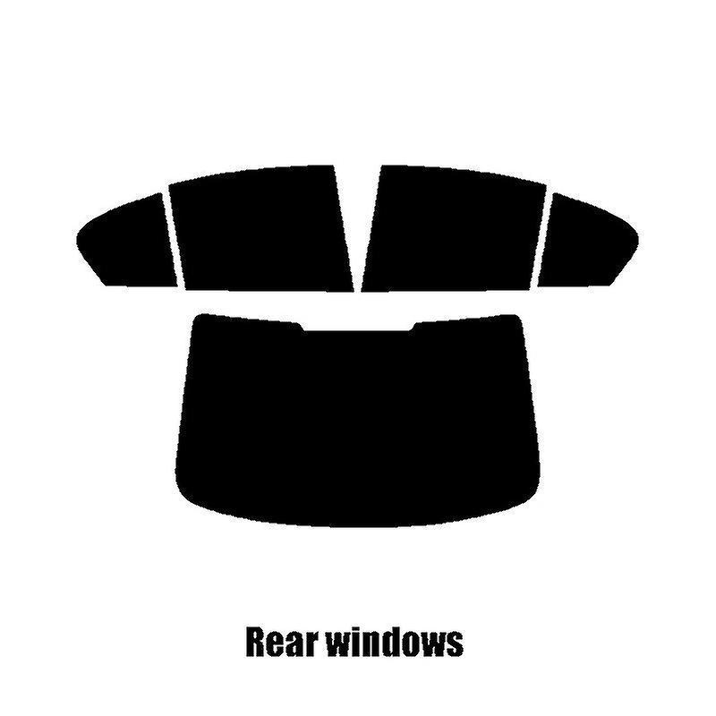 Pre cut window tint - BMW 5 Series 4-door Saloon (G30) - 2017 and nouveauer - Rear windows