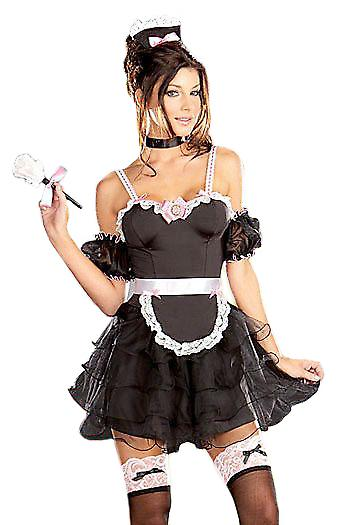 Waooh 69 - Sexy French Maid Costume With Flying Ptorothée