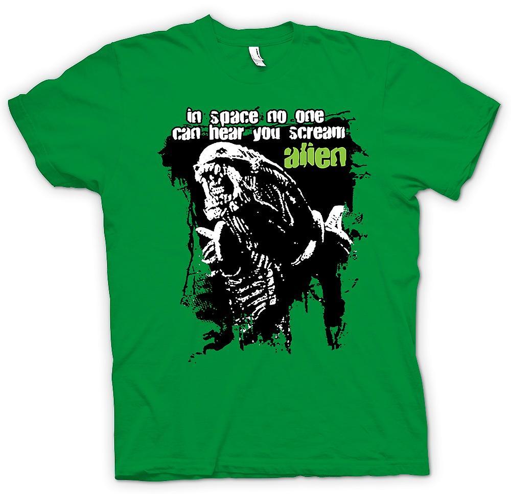 Mens t-skjorte - Alien høre deg skrike - Sci Fi