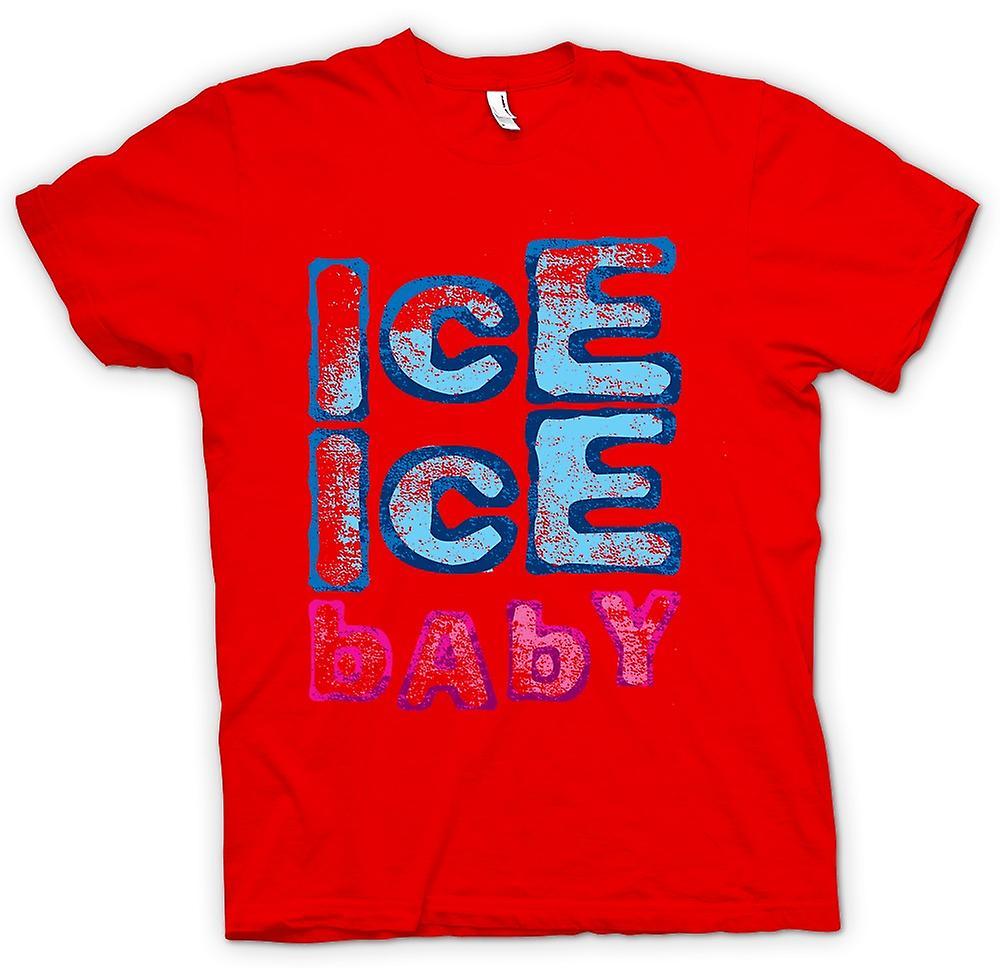 Herr T-shirt-Vanilla Ice - Ice Ice Baby - Funny