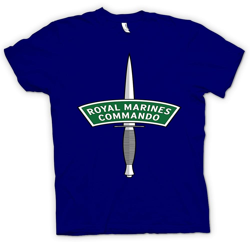 Mens T-shirt - Royal Marines Commando Dagger