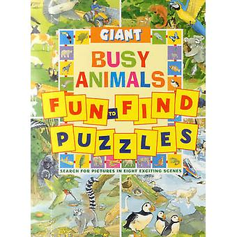 Giant Fun-to-Find Puzzles Busy Animals by Peter Rutherford - 97818614
