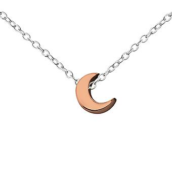 Media Luna - collares de llanura de plata esterlina 925 - W17732X