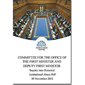 Inquiry into Historical Institutional Abuse Bill (NIA 7/11-15): Consideration by Statutory Committees Together...