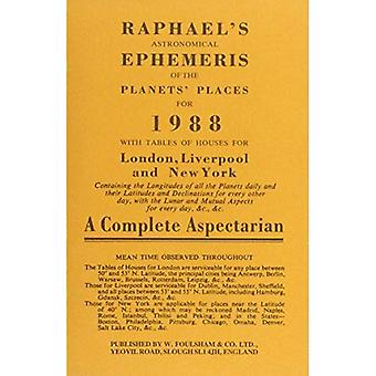 Raphael's Astronomical Ephemeris of the Planets' Places 1988