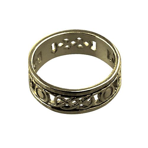 9ct Gold 6mm ladies Celtic Wedding ring