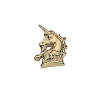 9ct Gold 9x8mm Unicorn head raised Tie Tack
