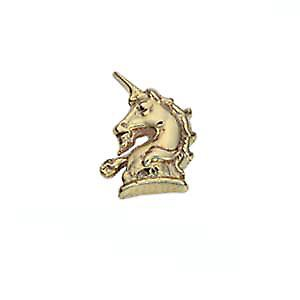 9ct Gold 9x8mm Unicorn head raised Tie Tack