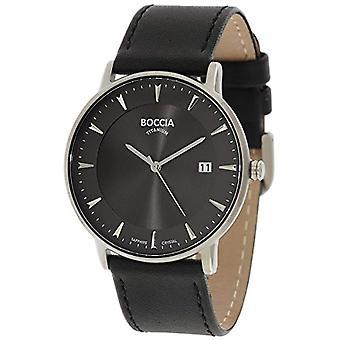 Petanque digital watch quartz men's watch with leather 3607-01