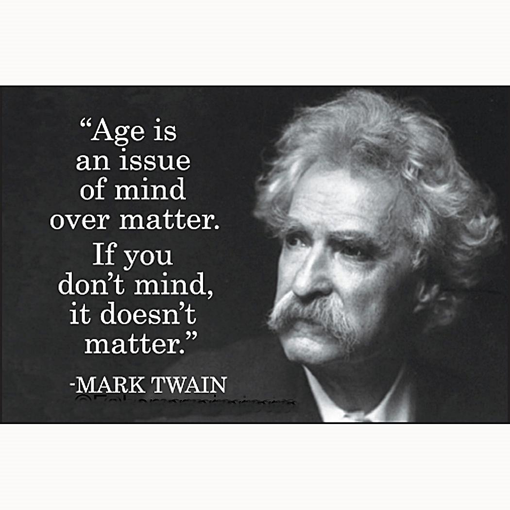 Age Is An Issue (Mark Twain) fridge magnet                      (ep)