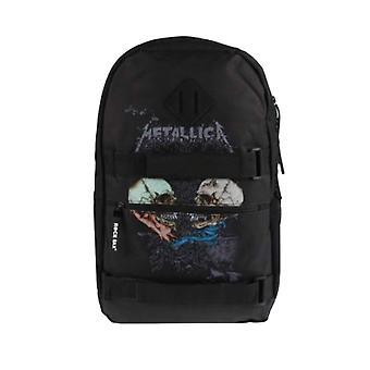 Metallica Backpack Skate Bag Sad But True Skulls Band Logo new Official Black