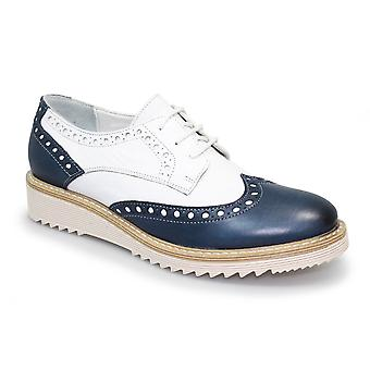 Lunar Embry Leather Wedge Brogue