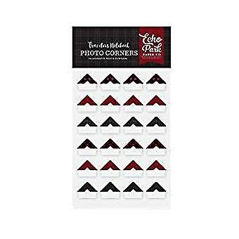 Echo Park Paper Red Buffalo Travelers Notebook Photo Corners (TNP1006)