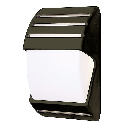 Endon EL-40022 Black Wall Light With Opal Lens And Dusk To Dawn Photocell