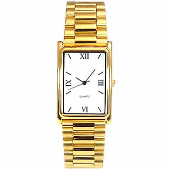 Gents Gold Tone Bracelet Strap Dress Watch GOTW102