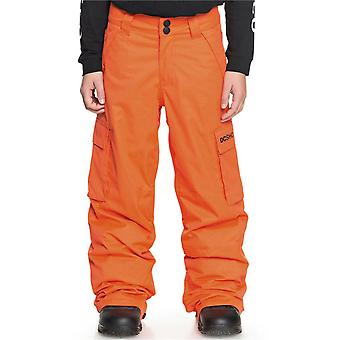DC Red Orange Banshee Kids Snowboarding Pants