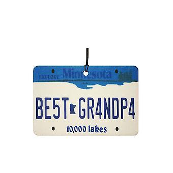 Minnesota - Best Grandpa License Plate Car Air Freshener