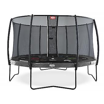 BERG Elite Regular 430 Levels 14ft Trampoline+ Safety Net Deluxe Grey