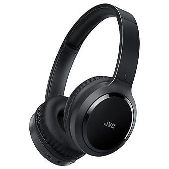 JVC Bluetooth sem fio sobre fones de ouvido com cancelamento de ruído preto HAS80BNBE