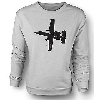 Womens Sweatshirt A10 Thunderbolt Tank Buster - Awesome Fighter