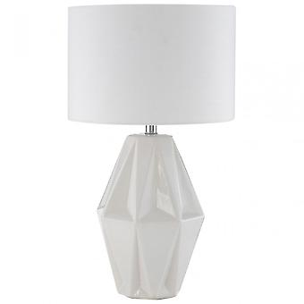 Premier Home Jenna Table Lamp, White