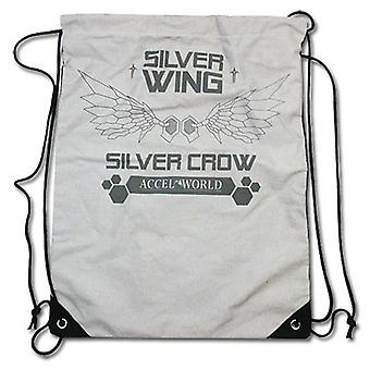 String Backpack - Accel World - New Silver Crow Wings Draw Sling Bag ge11511