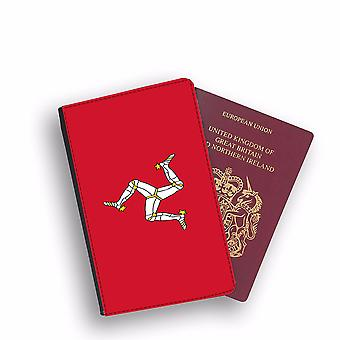 ISLE OF MAN Flag Passport Holder Style Case Cover Protective Wallet Flags design