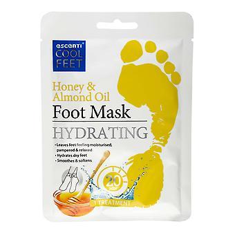 Escenti Cool Feet Fußmaske Socke - Honig und Mandelöl