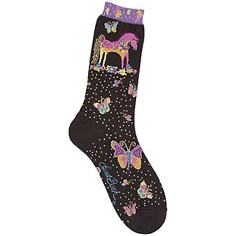 Laurel Burch Socks Mythical Mares Black Socks 1071