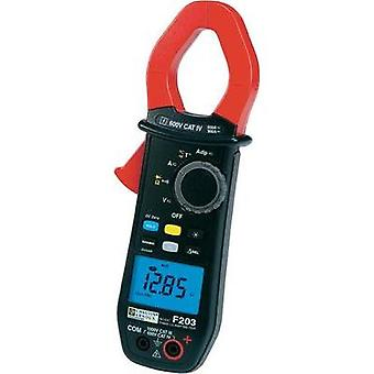 Current clamp, Handheld multimeter digital Chauvin Arnoux F203 Calibrated to: Manufacturer standards CAT III 1000 V, CA