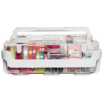Caddy Organizer W/Small, Medium & Large Compartments-White 29003CR