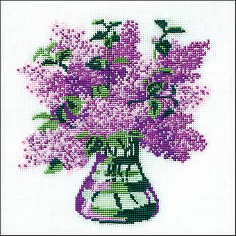 Bouquet de lilas compté point de croix Kit-8