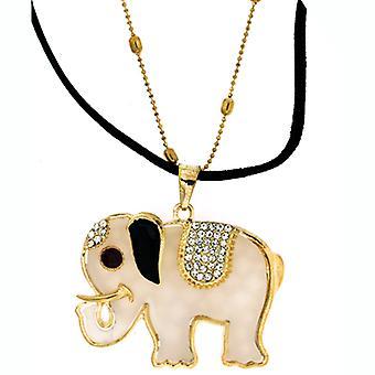 Akryl & Crystal indisk elefant hänge