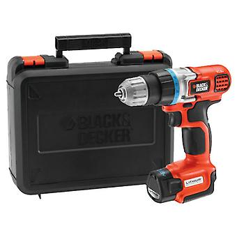 Black and Decker Atornillador/taladro Ultracompacto 10,8V con maletín Litio