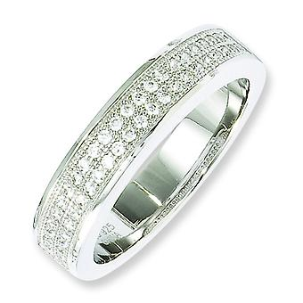 Sterling Silver e Fancy CZ Ring - anello formato: 6-8