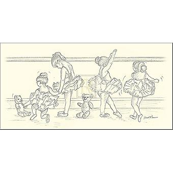 Impresión de cartel IV bailarinas por Steve OConnell (12 x 6)