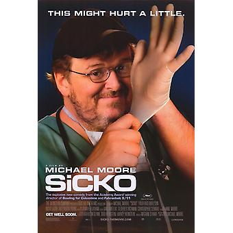 Poster do filme Sicko (11 x 17)