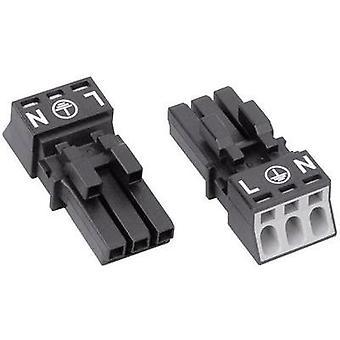 Mains connector ATT.LOV.SERIES_POWERCONNECTORS WINSTA MINI Socket, straight Total number of pins: 2 + PE 16 A Black WAG
