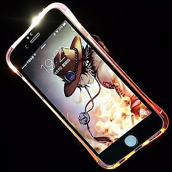 Appel Mobile Shell LED Licht pour mobile Samsung Galaxy A5 2016 rose