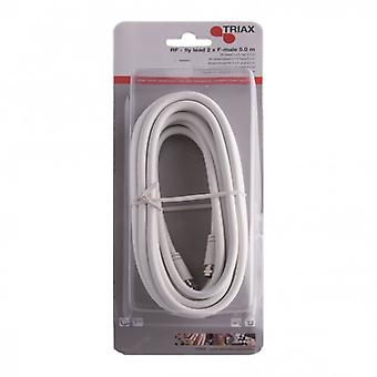 TRIAX aerial cable F to F 5 m white