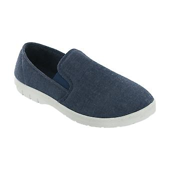 Mirak Mens Tommy Canvas Shoes Textile PVC Slip On Fastening Male Footwear