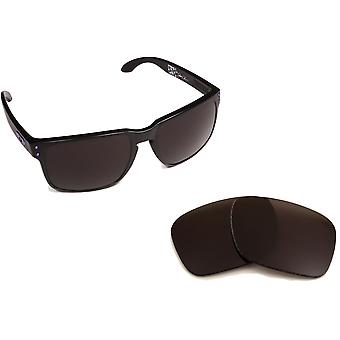 New SEEK Polarized Replacement Lenses for Oakley HOLBROOK Black Silver