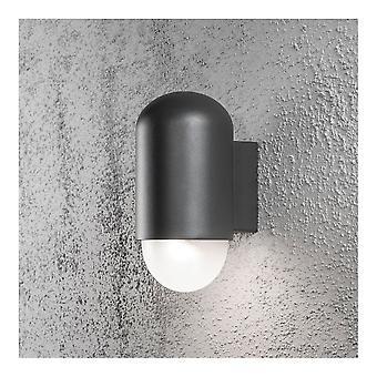 Konstsmide Sassari Pille geformte schwarze Wand Licht Waschmaschine