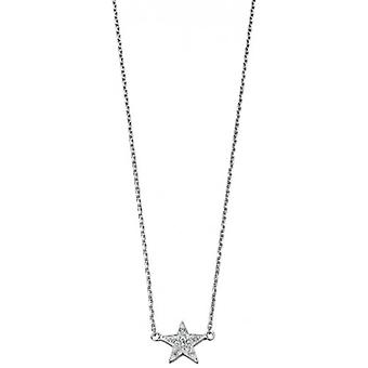 Elements Silver Cubic Zirconia Star Pendant - Silver
