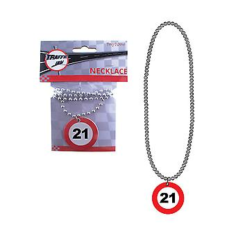 Jewelry and crowns  Necklace 21 red traffic sign