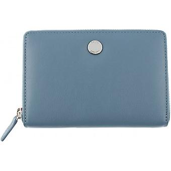 Dents Medium Smooth Leather Purse - Blue